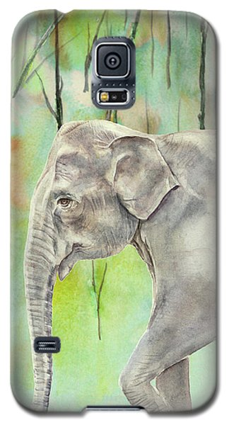 Galaxy S5 Case featuring the painting Indian Elephant by Elizabeth Lock