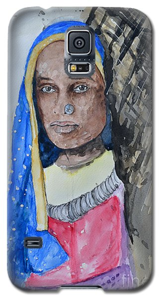 Galaxy S5 Case featuring the painting Indian Girl by Ismeta Gruenwald