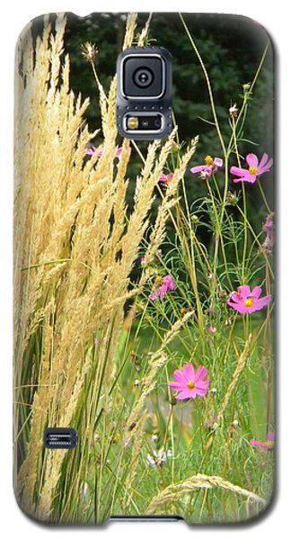 Indian Grass And Wild Flowers Galaxy S5 Case