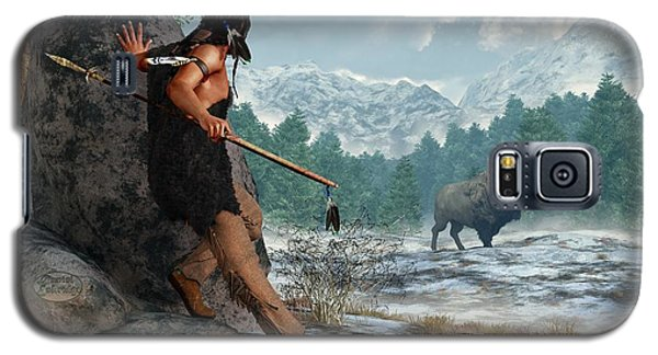 Indian Hunting With Atlatl Galaxy S5 Case