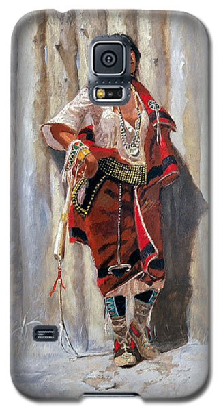 Indian Maid At Stockade By Charles Marion Russell Galaxy S5 Case by Pg Reproductions