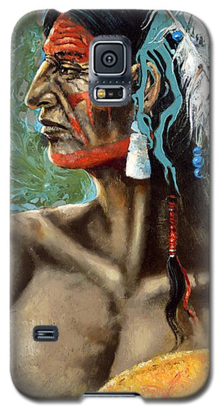 Galaxy S5 Case featuring the painting Indian North Americano by Dmitry Spiros