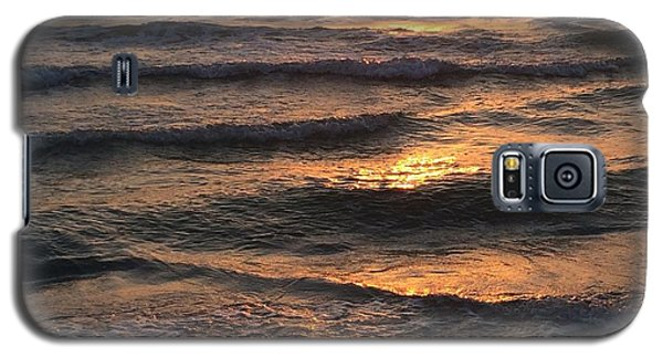 Indian Rocks Beach Waves At Sunset Galaxy S5 Case