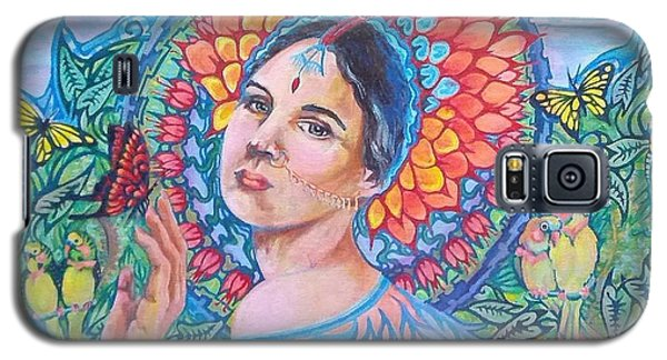 Galaxy S5 Case featuring the painting Indian Spring by Suzanne Silvir