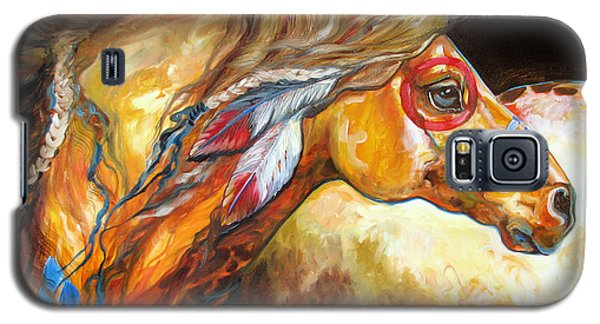 Indian War Horse Golden Sun Galaxy S5 Case