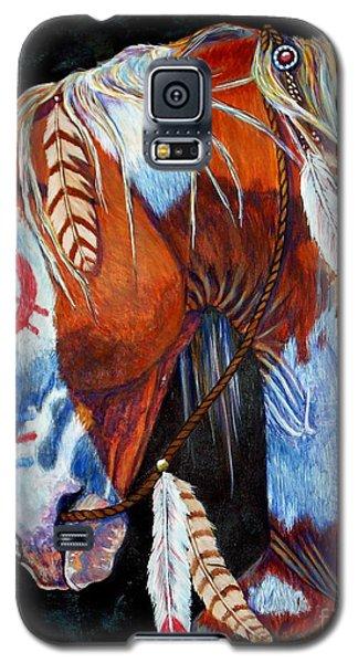White Horse Galaxy S5 Case - Indian War Pony by Amanda Hukill