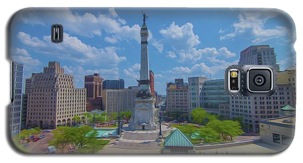 Indianapolis Monument Circle Oil Galaxy S5 Case