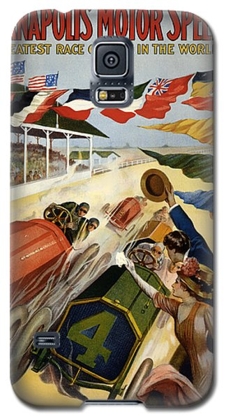Sport Art Galaxy S5 Case - Indianapolis Motor Speedway - Vintage Lithograph by Mountain Dreams