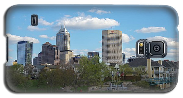 Indianapolis Skyline Blue 2 Galaxy S5 Case