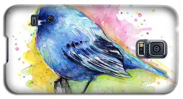 Indigo Bunting Blue Bird Watercolor Galaxy S5 Case