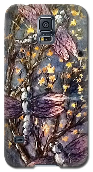 Galaxy S5 Case featuring the painting Indigo Dragons by Megan Walsh