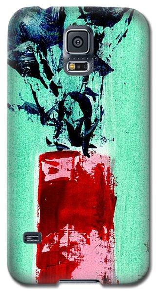 Indigo Roses In Vase Galaxy S5 Case by P J Lewis
