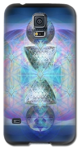 Galaxy S5 Case featuring the digital art Indigoaurad Chalice Orbing Intwined Hearts by Christopher Pringer