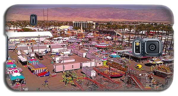 Galaxy S5 Case featuring the photograph Indio Fair Grounds by Chris Tarpening