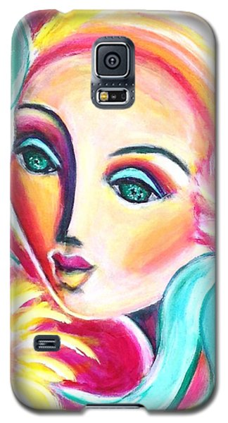 Galaxy S5 Case featuring the painting Infatuated by Anya Heller