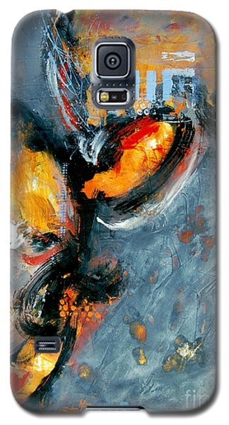 Galaxy S5 Case featuring the painting Inferno by Ron Stephens