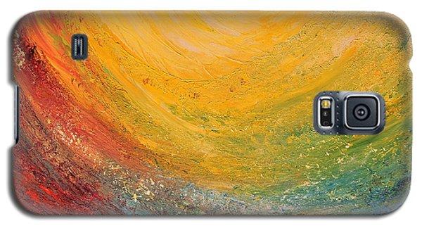Galaxy S5 Case featuring the painting Infinity by Teresa Wegrzyn