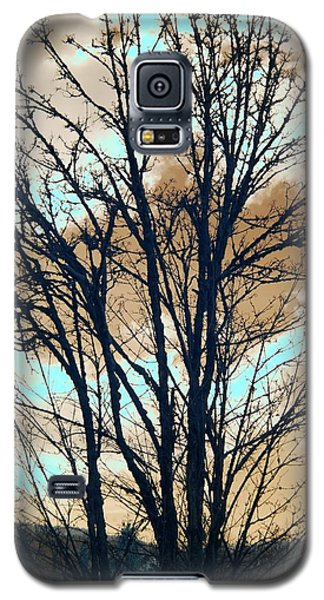 Galaxy S5 Case featuring the photograph Infrared Split Second Sun Couds by Rebecca Parker
