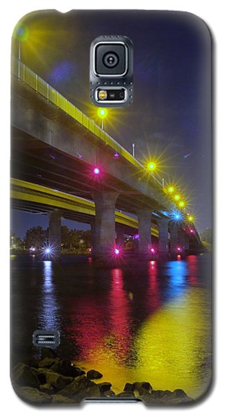 Ingraham Street Bridge At Night Galaxy S5 Case