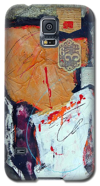Galaxy S5 Case featuring the painting Inigma by Ron Stephens