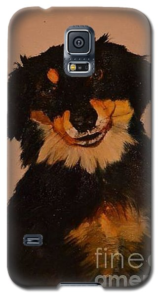 Galaxy S5 Case featuring the painting Inky by Denise Tomasura