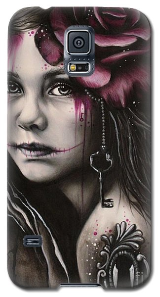 Galaxy S5 Case featuring the drawing Inner Child by Sheena Pike