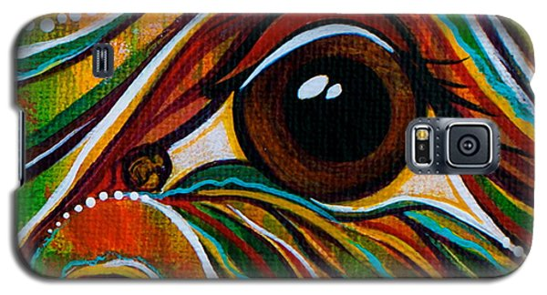 Galaxy S5 Case featuring the painting Inner Strength Spirit Eye by Deborha Kerr