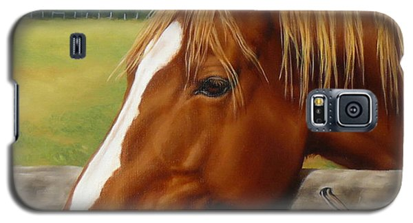 Galaxy S5 Case featuring the painting Inquisitive by Margaret Stockdale