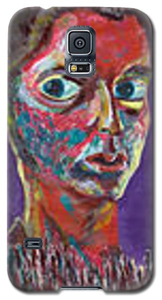 Galaxy S5 Case featuring the painting Insecure by Artists With Autism Inc