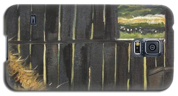 Barn -inside Looking Out - Summer Galaxy S5 Case by Jan Dappen