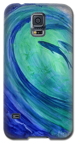 Galaxy S5 Case featuring the painting Inside The Curl by Joan Hartenstein