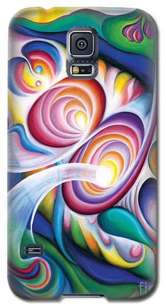 Galaxy S5 Case featuring the painting Inside The Revelry Divine by Tiffany Davis-Rustam
