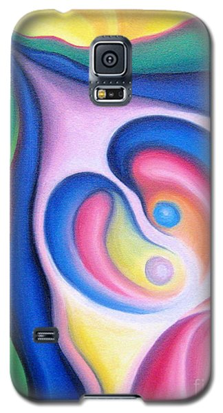 Galaxy S5 Case featuring the painting Inside The Revelry Of Like Minds by Tiffany Davis-Rustam