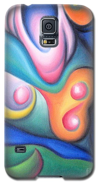 Galaxy S5 Case featuring the painting Inside The Revelry Of Motion by Tiffany Davis-Rustam