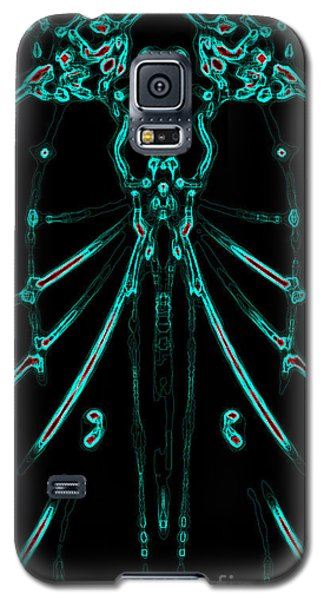 Galaxy S5 Case featuring the digital art Instinct Color Variation 1 by Devin  Cogger