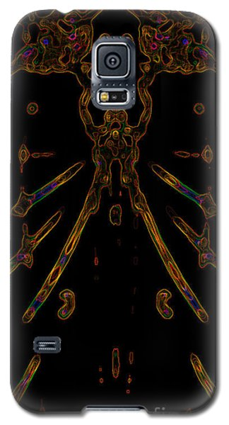 Galaxy S5 Case featuring the digital art Instinct Color Variation 5 by Devin  Cogger