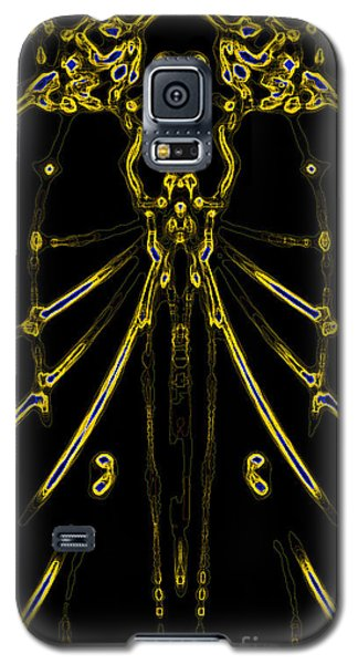 Galaxy S5 Case featuring the digital art Instinct Color Variation 8 by Devin  Cogger