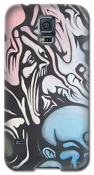 Galaxy S5 Case featuring the painting Intensity by Michael  TMAD Finney