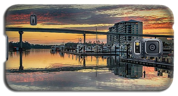Intercoastal Waterway And The Wharf Galaxy S5 Case by Michael Thomas