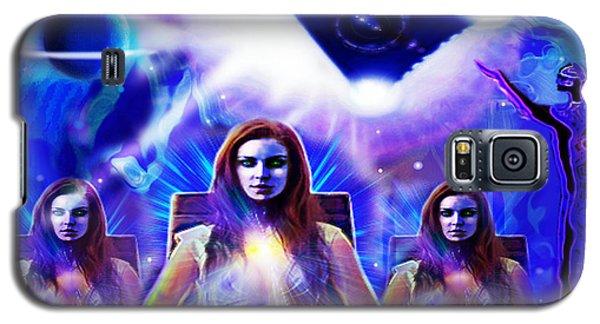Galaxy S5 Case featuring the digital art Interdimensional Guardians by Hartmut Jager