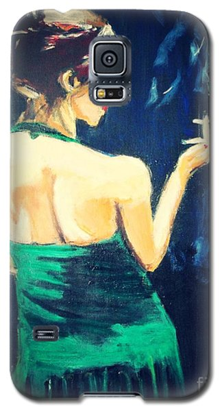 Galaxy S5 Case featuring the painting Intermission 2 by Judy Kay