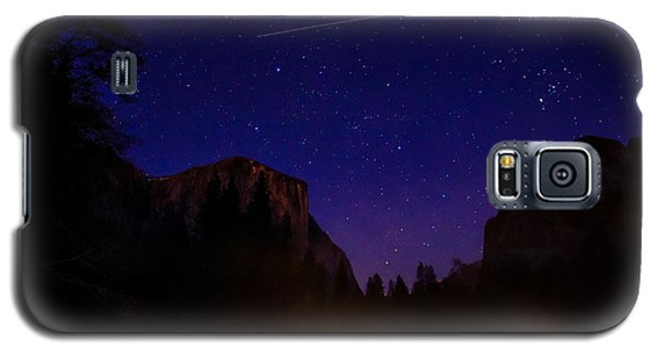 International Space Station Over Yosemite National Park Galaxy S5 Case by Scott McGuire