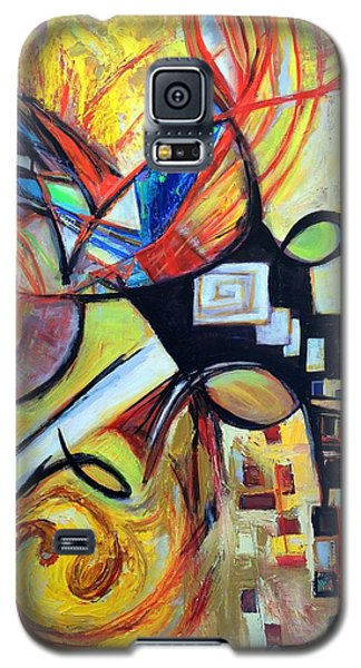 Galaxy S5 Case featuring the painting Intersections by Mary Schiros