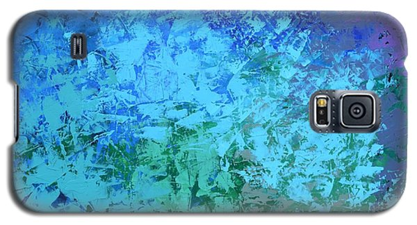 Galaxy S5 Case featuring the painting Into The Deep Blue Sea by Linda Bailey