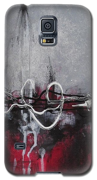 Galaxy S5 Case featuring the painting Into The Fire by Nicole Nadeau