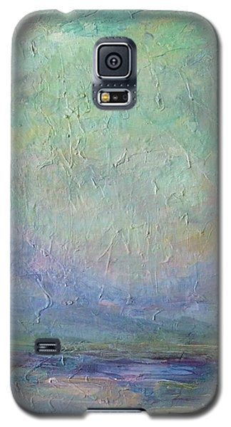 Galaxy S5 Case featuring the painting Into The Morning by Mary Wolf