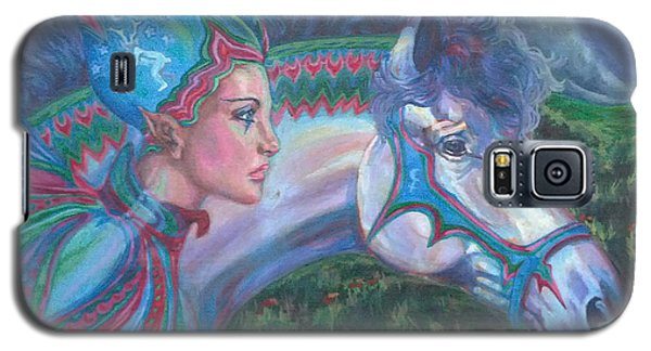 Galaxy S5 Case featuring the painting Into The Storm by Suzanne Silvir
