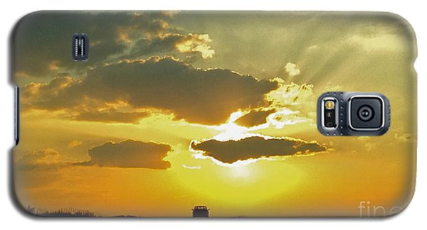 Galaxy S5 Case featuring the photograph Into The Sunset - No.0580 by Joe Finney