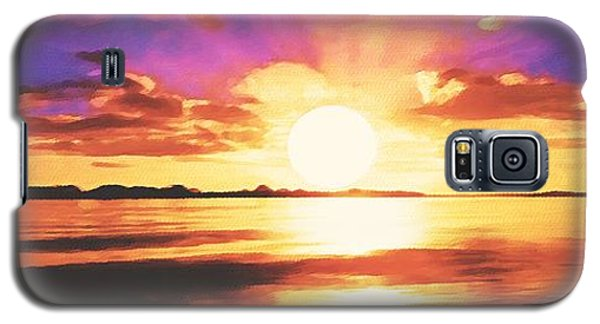 Galaxy S5 Case featuring the painting Into The Sunset by Sophia Schmierer
