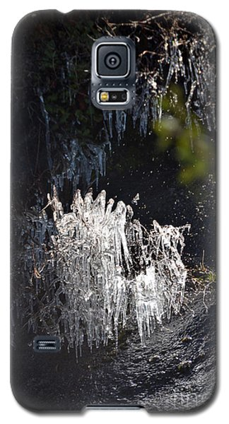 Intriguing Icicles In Yosemite Galaxy S5 Case by Debra Thompson